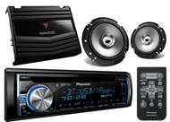 "Pioneer Pandora Bluetoot USB iPhone CD AUX Radio,6.5""Speakers,Car 400W Amplifier"