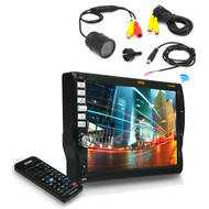 """Flush Mount Night Vision BackUp Camera,7"""" Touch Mp3 CD Bluetooth AM FM Receiver"""