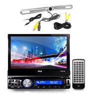 "Zinc Metal Back Up Camera, Pyle 7"" Bluetooth GPS USB CD Touch AM FM AUX Receiver"