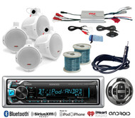 "Marine Amplifier,Marine 6.5"" Speakers&Wiring, Bluetooth USB Radio/Remote,Antenna"