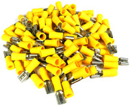 Quick Disconnect 10-12 Ga. 100 Pcs; Yellow; Female; Xscorpion