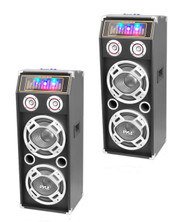 Pyle 1000W 2Way Bluetooth Speaker With DJ Lights & Pyle 2Way Passive DJ Speaker