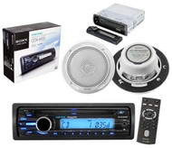 """Sony CXSM2016 Boat Marine CD Player Radio In-Dash Receiver With 2x 6.5"""" Inch Sony Speakers"""