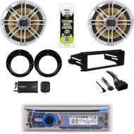 Dual Bluetooth Harley 98-2013 Install FLHT Dash Kit, XM Tuner, Speakers/Adapters