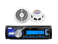 "New JVC Marine/Car Bluetooth USB/AUX MP3 Radio Receiver + 2 x 6.5"" 120W Speakers"