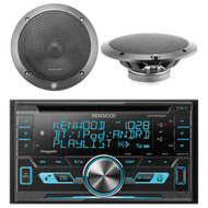 "Kenwood DPX503BT Double-Din CD Receiver with USB Interface & Bluetooth, 2x Lightning Audio 6.5"" Speakers"
