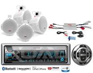 "Marine Kenwood CD USB Bluetooth Radio/Remote, Amplifier, 6.5"" Wakeboard Speakers"