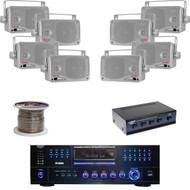 "PD3000A DVD USB Receiver, 3.5"" Box Speaker Set, Speaker Wire, Speaker Selector"