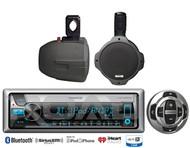 "6.5"" Marine Wakeboard Speaker,Bluetooth Marine USB CD Kenwood Radio/Wired Remote"