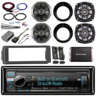 "98-2013 Install FLHT USB CD Adapter Kit,Kicker 6.5""and 5.25"" Speakers,Amplifier"