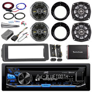 USB Bluetooth Harley FLHTC Install Kit, Kicker Speaker Set, Amplifier and Kit