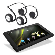 "2 Bluetooth Flex Fit Headphones,Pyle 9"" 3D Graphics Bluetooth Dual Camera Tablet"
