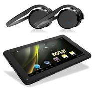 """Pyle Android 4.2 Bluetooth 3D Graphics 9"""" Tablet & 2 Black Bluetooth Headphones"""
