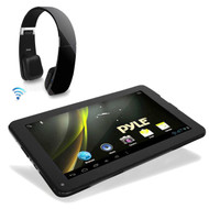 "9"" Pyle Astro Bluetooth Wifi Android 4.2 Tablet, Pyle Bluetooth Black Headphones"