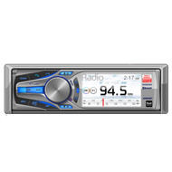Dual Marine AM505BT Mechless AM/FM, MP3 Bluetooth Detachable Face with 3 TFT LCD USB, iPod/iPhone Control, Pandora Receiver