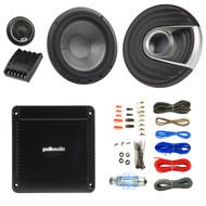 """2x Polk Audio MM1 MM6502 Series 375W Ultra-Marine Certified 6.5"""" Component Speaker System, PA330 330W 2 Channel Car Amplifier, Enrock Audio 16-Gauge 50 Foot Speaker Wire"""