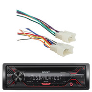 Sony CDX-G1200U 55W AM FM CD MP3 Receiver with Enhanced Smartphone Connectivity, Metra 70-1761 Radio Wiring Harness For Toyota 87-Up