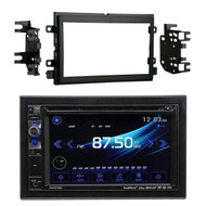 """Dual AV DV637MB Double Din 6.2"""" Touch Screen DVD Bluetooth USB Receiver, Metra 95-5812 Double DIN Installation Kit for Select 2004-up Ford Vehicles"""