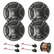 "4X Polk Audio DB6502 6.5"" 300W 2 Way Car/Marine ATV Stereo Component Speakers, 4X Metra 72-4568 Speaker Wire Harness for Select GM Vehicles, Enrock Audio 16-Gauge 50 Foot Speaker Wire"