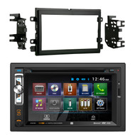 """Dual AV Double Din 6.2"""" Touch Screen DVD Bluetooth USB Receiver, Metra 95-5812 Double DIN Installation Kit for Select 2004-up Ford Vehicles"""