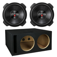 "2X Kenwood KFC-W3016PS 2000W 12"" Performance Series Single 4 ohm Subwoofer, and Atrend KW12EDV 12"" Kenwood Dual Ported Sub Enclosure"
