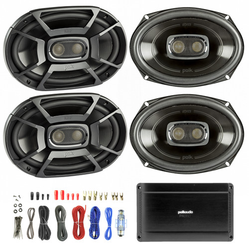 4x polk 6x9 inch 450w 3 way car boat coaxial stereo audio speakers stereo subwoofer wiring polk audio car subwoofer wiring kits #12