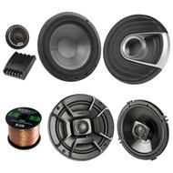 "2x Polk Audio 6.5"" DB652 300W 2 Way Car/Marine ATV Stereo Coaxial Speakers,2x MM6502 375W Marine 6.5"" Component Speaker System, Enrock Audio 16-Gauge 50 Foot Speaker Wire"
