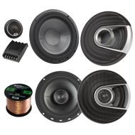 "2x Polk Audio MM MM652 Series Ultra Marine Certified 6.5"" 2 Way Coaxial Car / Boat Speakers, 2x MM6502 375W Marine 6.5"" Component Speaker System, Enrock Audio 16-Gauge 50 Foot Speaker Wire"