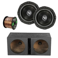 "2X Audiopipe 15"" Triple Stack Subwoofer, Q Power QBOMB15V Dual 15-Inch Vented Speaker Box, Enrock Audio 16-Gauge 50 Foot Speaker Wire"