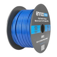 Enrock Audio Marine Grade Spool of 50 Foot 16-Gauge Tinned Speaker Wire - Connects to A/V Receiver and Amplifier - Flexible PVC Tin Copper Plated OFC Wire Ideal For Boat Yacht, Outdoor Speaker Installations