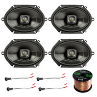 "Polk 5x7"" 225W 2-Way Car/Boat Coaxial Stereo Audio Speakers Marine 