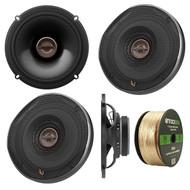 "Infinity REF-6522EX Reference Series Shallow-Mount 6-1/2"" 330 Watt Coaxial Car Speakers, Enrock 14 AWG Gauge 50 Feet Speaker Wire"