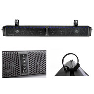 "HIFONICS TPS10 THOR 10-Speaker Bluetooth Powersports Amplified Soundbar, Kicker 43CSC654 600-Watt 6-1/2"" Inch CS Series 2-Way Black Car Coaxial Speakers, Kicker 12KMTED 6.5"" Dual Black Empty Tower Enclosures"