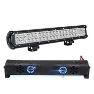 """Audio Package: Bazooka 24"""" Double Sided Bluetooth Party Bar with LED Illumination System, with Nilight Light Bar LED 20"""" 126W"""