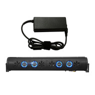 "Audio Package: Bazooka 24"" Bluetooth Party Bar Off Road Sound Bar LED Illumination System, 7 Amp AC to DC Adaptor - Home Power Supply"