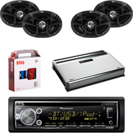 "1 X In Dash Pionner DEHX6900BT In Dash Receiver, 2 X Pair JVC CSJ6930 6x9"" Speakers, 1 X MB Quart NA3604 4 Ch Amp, 1 X 8g Install Kit"