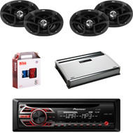 "1 X In Dash Pionner DEH150MP Car Receiver, 2 X Pair JVC CSJ6930 6x9"" Speakers, 1 X MB Quart NA3604 4 Ch Amp, 1 X 8g Install Kit"