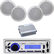 "Enrock Bluetooth USB AUX AM FM Marine Radio, 6.5""Speakers, 400W Marine Amplifier"