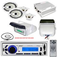 "Marine Enrock Mp3 Bluetooth USB Radio, Housing, Antenna, 6x9"" Marine Speakers"