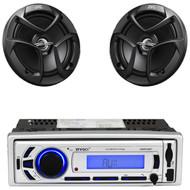"""Enrock AM FM USB Bluetooth Mp3 Receiver, JVC 6.5"""" 2Way 300W Coaxial Car Speakers"""