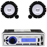 "Alpine 6.5"" 2Way 280W Car Component Speaker Set, USB Bluetooth AUX Mp3 Receiver"