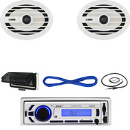 "EKMR256BT Marine Bluetooth USB Radio/Cover,Antenna, 6x9"" Marine Speakers & Wires (MBNPN627)"