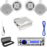 500W Marine Amplifier,Marine Speaker Set/Wires,USB Bluetooth Radio,Antenna,Cover (MP16N0039)