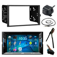 "JVC 6.2"" Bluetooth DVD Radio, Rear Camera, Antenna Adapter,Harness, GM 90-UP Kit (R-KWV120BT-CMOS22P-95-2001)"