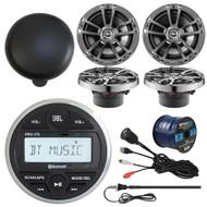 "PRV-175 Bluetooth Radio, USBAUX Cord, Cover, Antenna, 6.5""Speakers, Speaker Wire (R-PRV-175-2622M)"