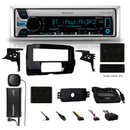2014-15 Harley Radio install Adapter CD Dash Kit +SiriusXM Antenna Thumb Control (16HDSKIT046)