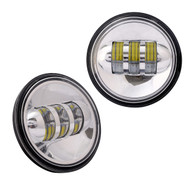 "Enrock LED CREE IP67 Waterproof  4.5"" Harley Davidson 30 Watt Fog Lamps (Silver) (R-EOR40FG-CR)"