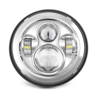 "Enrock LED CREE IP67 Waterproof  7"" Harley Jeep High Low Beam Lamps (Silver) (R-EOR7001-CR)"