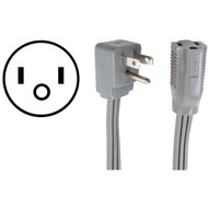 CERTIFIED APPLIANCE 15-0303 Appliance Extension Cord, 15 Amps (3ft) (R-15-0303)