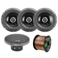 """4 x Audio Legion 6x9"""" Speakers, Enrock Audio 16-Gauge 50 Foot Speaker Wire (R-2-CME65)"""